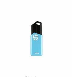 Black And Blue HP V150 16GB USB 2.0 Pen Drive, Memory Size: 16GB