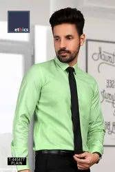 Green Color Readymade Uniform Formal Shirt T-445477