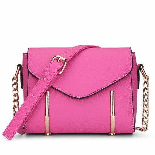 Leather Shoulder Bag Pink Ladies Purse c4fb91a3930d
