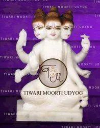 God Dattatreya Marble Statue
