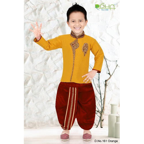648752a63 Party Wear Yellow Boys Dhoti Sherwani, Rs 790 /set, Disha | ID ...