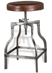 Industrial Bryce Leather Bar and Counter Stool