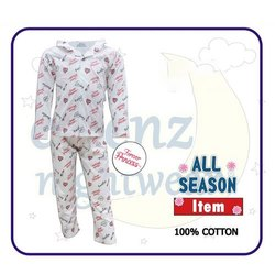 Cotton Kids Girls Night Suit
