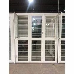 Galvanized Iron White French Door, For Home,Hotel etc, Size/Dimension: 5x6.5 Feet