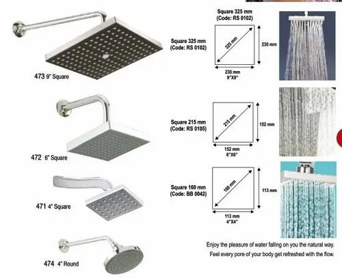 Hygree Brass Rain Shower, For In Bathroom, Rs 600 /piece/starts from ...