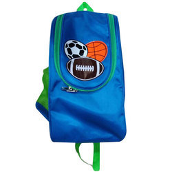 Nylon Blue Football Backpack Bag