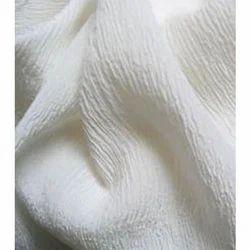 Pure Chiffon Silk Crushed Fabric