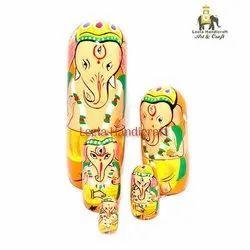 Wooden Ganesha Doll