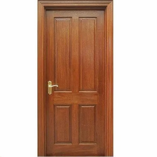 Finished Solid Wooden Door, For Home
