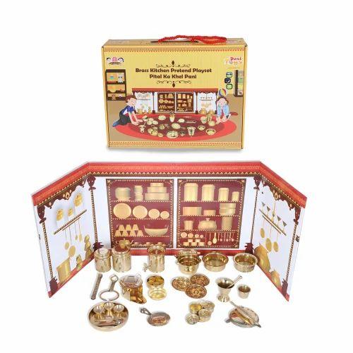 Kitchen Sets - Desi Toys Brass Miniature Kitchen Pretend Toy ...