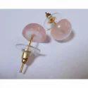 Pink Quartz Gemstone Earring