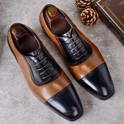 Pro Italiana Designer Leather Swan Luxury Shoes