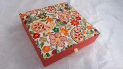 HH Multicolor Embroidered Jewelry Box