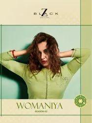 z Black Present Womaniya Vol 2 Rayon Embroidery Kurti With Palazzo