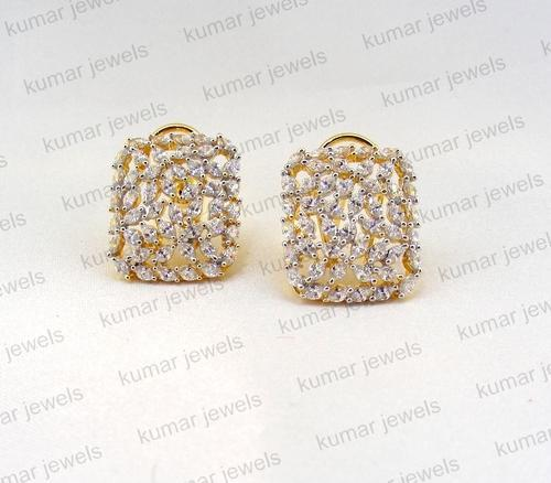 stud round tcw gold square shaped at yellow earrings diamond