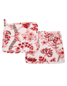 Machine Quilted Floral Printed Kitchen Towel Napkin Sets