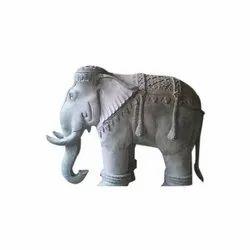 Golden Brass Elephant Statue, for Interior Decor