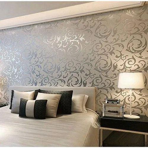 Vinyl Paper And Leatherette Bedroom Designer Wallpaper Rs 2500 Roll Id 20841523430
