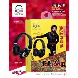 Black UiBH-126 Parkour Series Wireless Stereo Headphone