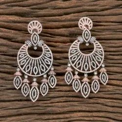 Cz Black Rose Plated Classic Earring 406062