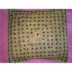 Mirror Work Cushion Cover