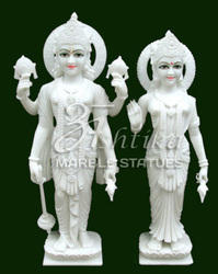 Viyatnam Marble Laxmi Narayan Statue