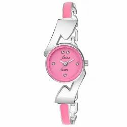 Jainx Pink Bracelet Analogue Round Watch for Women & Girls JW595