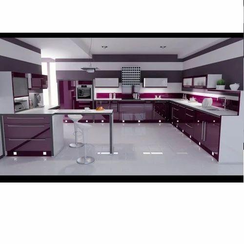 Pu Paint High Gloss Modular Kitchen Modular Kitchen Vs Krishna