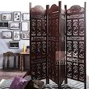 Handcrafted Partition / Room Divider In Mango Wood, For Home, Size: 80 X 72 Inch