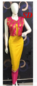 Pink And Yellow Indo Western Dress