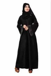 Women's Nida Plain Abaya Burqa With Dupatta