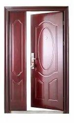 Brown Powder Coated Security Steel Door for Home