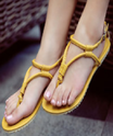 Ladies Yellow Casual Sandal