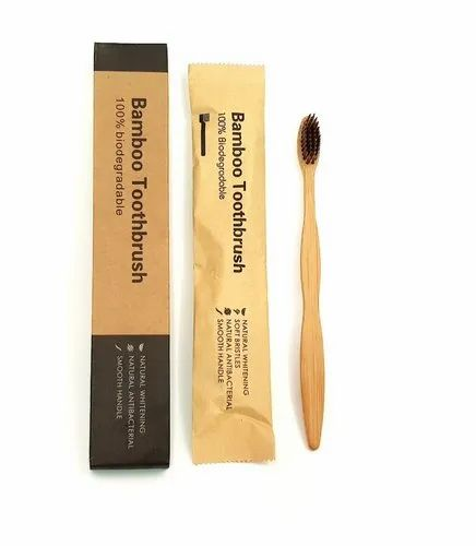 S Curve Handle Bamboo Toothbrush