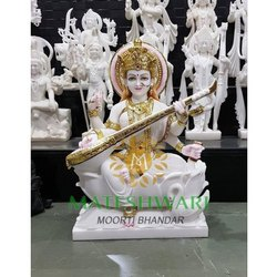 Makrana Marble Saraswati Statue