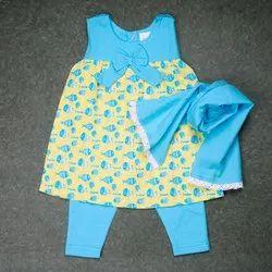 Keebee Baby Girl Printed 100% Organic Cotton Kurta set