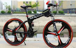 Mercedes Benz Black Foldable Cycle