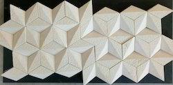 Jai WHITE Designer Stone Tiles, Size: Large (12 Inch X 12 Inch)