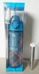 Blue Food Grade Plastic Alkaline Hydrogen Bottle, 500 ml, Size: S