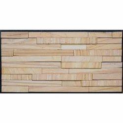 Teak 5 Patti Stone Wall Cladding