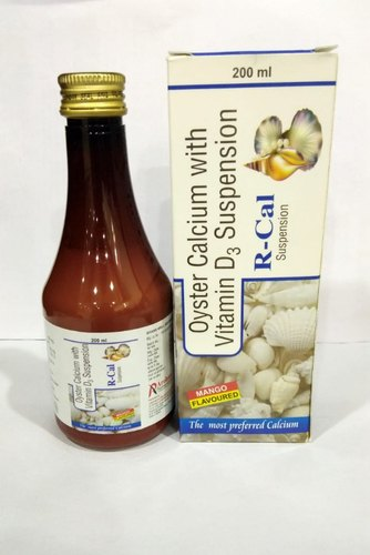R-Cal Oyster Calcium with Vitamin D3 Suspension, Packaging Type: Bottle