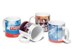 Sublimation Printed White Coffee Mugs