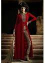 Side Cut Maroon Dress
