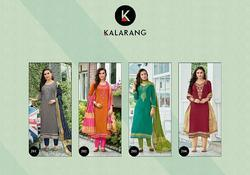 Kalarang Jasmine Series 291-294 Stylish Party Wearr Jam Silk Cotton Suit