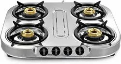 Stainless Steel Manual Gas Stove (4 Burners)