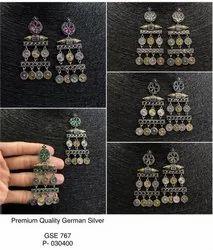 Dhokra Form Earrings