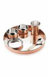 Copper Bhojan Thali Set for Restaurant