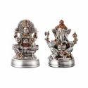 Laxmi Ganesh Metal Statue