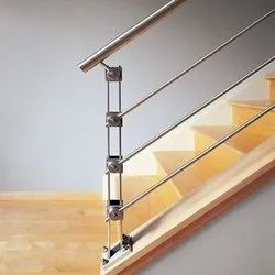 Polished Silver Architectural Stainless Steel Railings