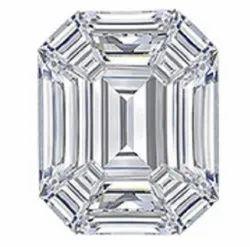 Emerald Shape Pie Cut CVD / HPHT DEF VVS VS Lab Grown Diamond